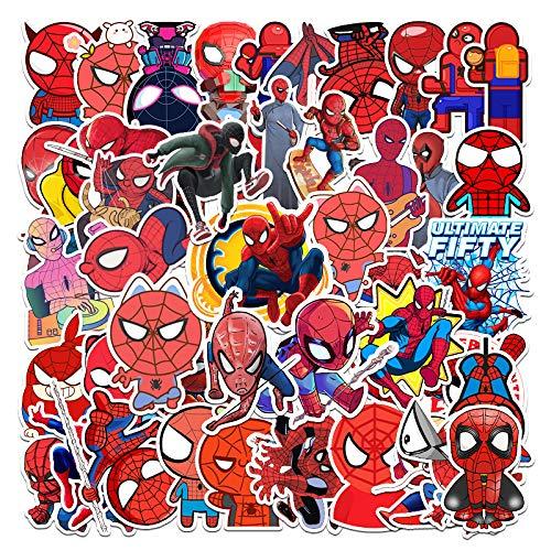 WUWEI Cartoon Spider-Man Graffiti Maleta Laptop Phone Case Refrigerador Guitarra Pegatina Impermeable 57 Uds