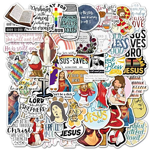 BLOUR 10/30/50 Uds clásico Jesús Cristiano fe Dibujos Animados Graffiti Maleta portátil Scooter Casco móvil decoración Pegatina al por Mayor