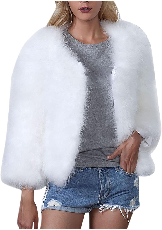 Women Fuzzy Fleece Coat San Diego Mall Max 50% OFF Fashion Solid Short Co Jacket Warm Plush