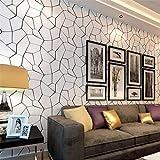 MFFACAI Papier Peint Moderne Minimaliste Noir et Blanc Motif géométrique 3D Relief...