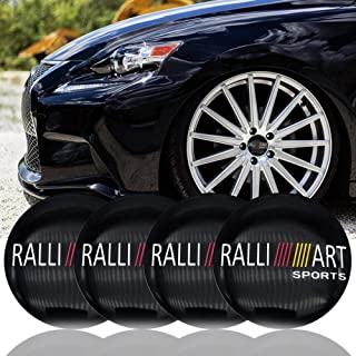 New 4pcs RALLI Art Sports Car Wheel Center Hub Caps Cover Rim Sticker Badge Ralliart for Mitsubishi Lancer ASX Outlander Pajero