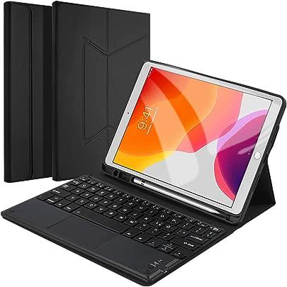 f r iPad 10 2 quot  2019 Tastatur H lle  Keyboard Case Tablet Tastatur Ultrad nn Schutzh lle mit magnetisch Abnehmbarer drahtloser Deutscher Bluetooth Tastatur f r iPad 10 2 Zoll  QWERTZ Deutsches Layout