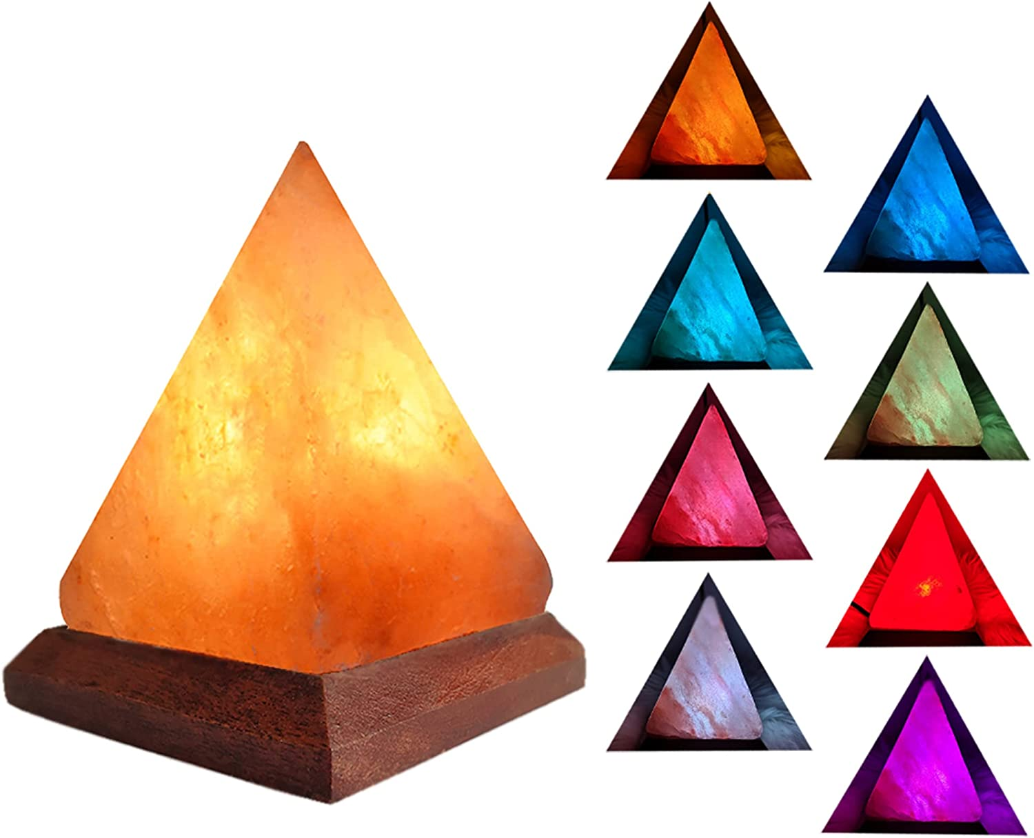 V.C.Formark USB Himalayan Salt Lamp Changing Financial sales sale Pyram with High material Colors 8