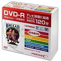 HIDISC DVD-R 録画用 120分 16倍速対応 10枚Slimケースワイドプリンタブル