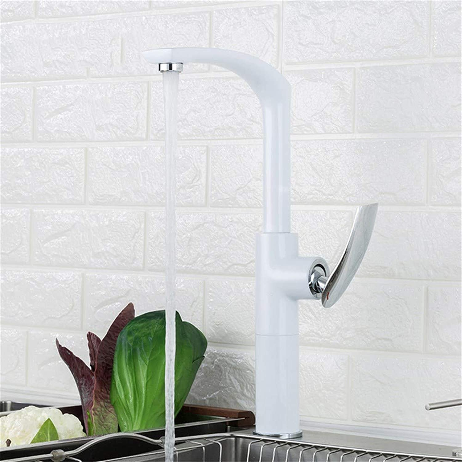 Single Handle Deck Mounted Kitchen Faucets High 360 Degree redating Mixer Basin Faucet Hot and Cold Water Faucet Y40068-2