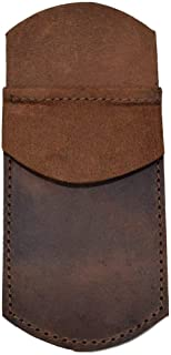 Yardwe Leather Pocket Protector Business Affairs Pen Bag Case Pencil Holder Pouch Sleeve (Brown)