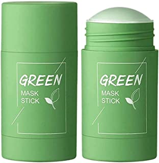 Qumeidie Green Tea Purifying Clay Stick Mask Oil Control Anti-Acne Eggplant Solid Fine, Portable Cleansing Mask Mud Apply ...