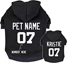 Didog Personalized Dog Hoodies, Custom Puppy Sweater Shirt with Pets Name & Number, ID Clothes for Poodle Yorkie Small Medium Dogs