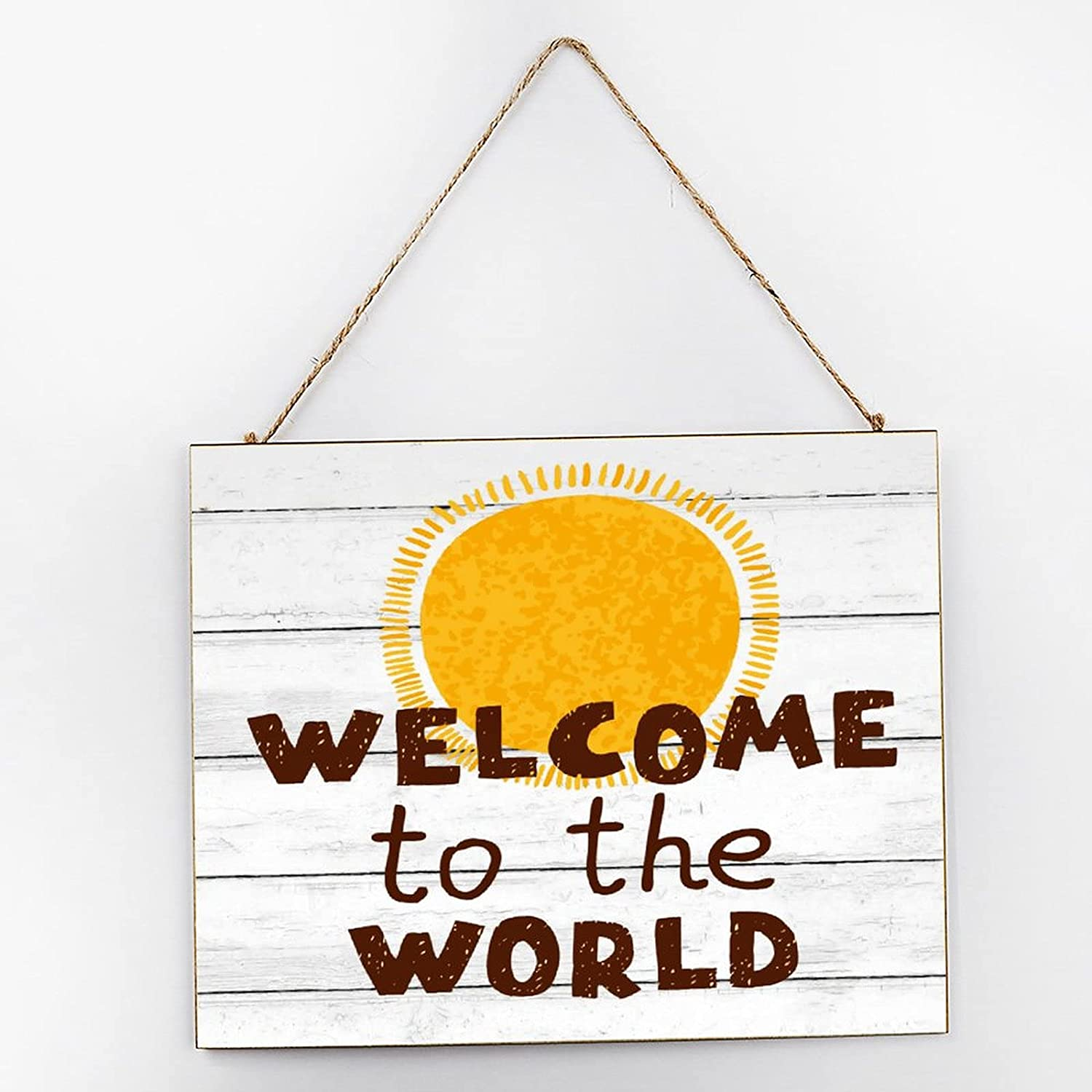 Superior by Unbranded Wood Louisville-Jefferson County Mall Sign Welcome Room The to World, Nursery