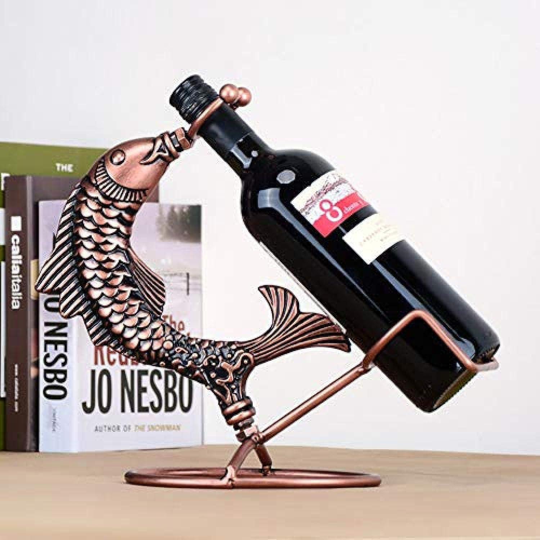 Venta barata LJXLXY Estante del Vino Europeo Retro Adornos de Hierro Hierro Hierro Forjado Adornos hogar Vino gabinete Estante del Vino de Interior Sala de Estar Cocina Estante de exhibición Decoración  a la venta