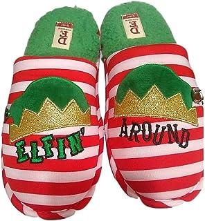 Dearfoams Women's Elfin' Around Elf Scuff Slippers Holiday Christmas Memory Foam
