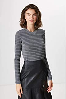 CROPPED ML STRIPES LUREX-PRATA