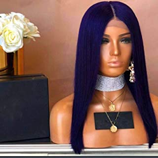 BlueWigs for Women Straight Wig Lace Front Wig Bluish Violet,Blue Mixed Purple Long Synthetic Wig For African American Women Heat Resistant High Temperature Glueless 22Inch
