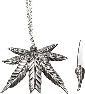 Marijuana Leaf Necklace Knife