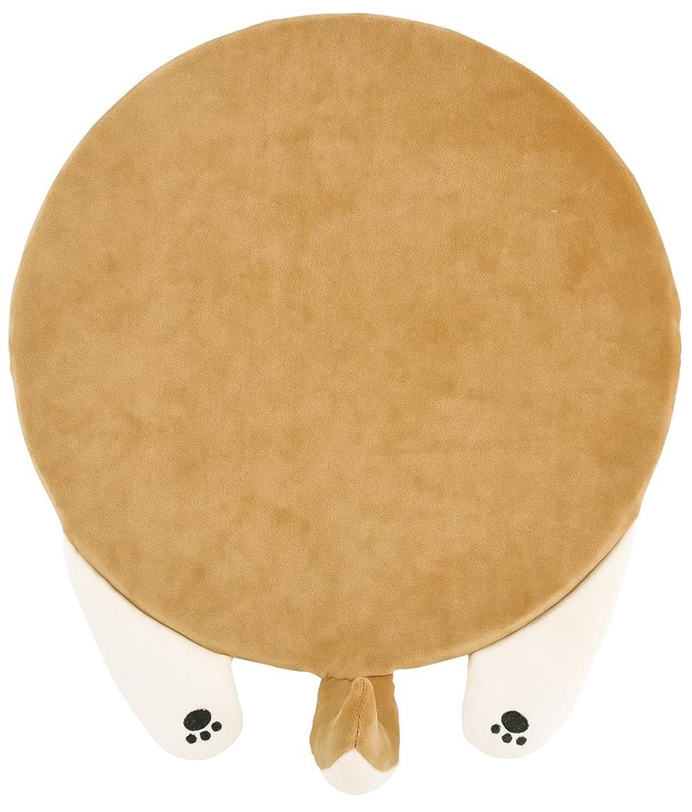 プロット暴露する書道りぶはあと チェアクッション ねむねむアニマルズリラックス  柴犬のコタロウ W35xD36cm 38654-44
