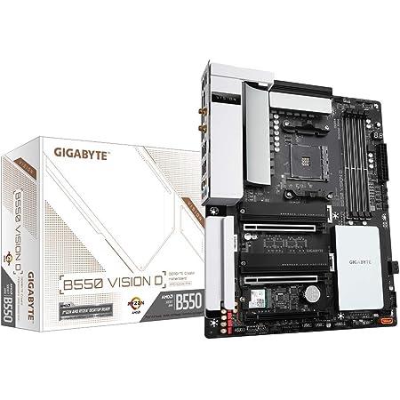 Gigabyte B550 Vision D (AMD Ryzen 5000/B550/ATX/3xPCIe 4.0/3.0/DDR4/ECC Memory/Titan Ridge/3xM.2/USB3.2 Gen 2 Type-C/Intel WiFi 6/Fully Quadro QVL Tested/Dual Intel LAN/1xHDMI 2.1/Motherboard)