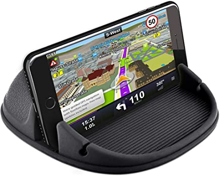 Car Phone Holder, Besiva Car Phone Mount Silicone Car Pad Mat for Various Dashboards, Anti-Slip Desk Phone Stand Compatible with iPhone, Samsung, Android Smartphones, GPS Devices and More, AA3