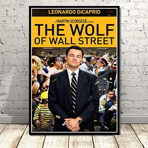 Poster Wall Art Series de TV El Lobo de Wall Street Leonardo DiCapri Lienzo Cancas para Pintar Imagen Impresiones Live Home Room Decoration - haozi3024 50x70cm