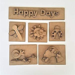 Foundations Décor, Shadow Box Kit - Happy Days
