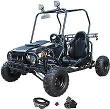 X-Pro 110cc Youth Go Kart Dune Buggy Kids Go Cart Gokart 2 Seater Go Kart with Gloves and Google