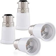 kwmobile 4x adaptateur de douille - Convertisseur douilles B22 vers E27 - Adaptateur de support de lampe culot baïonnette pour ampoule LED halogène
