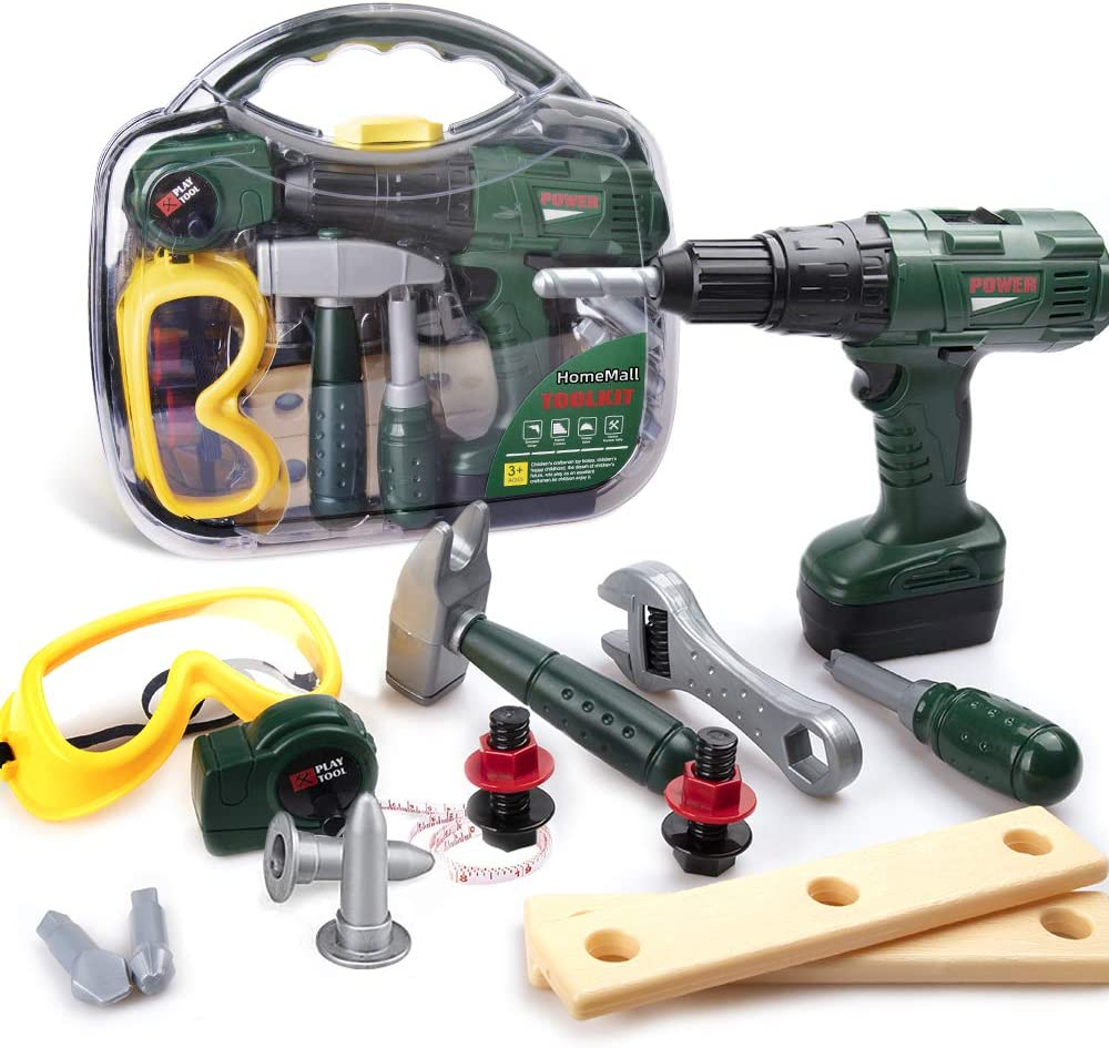HomeMall Kids Tool Outlet sale feature Set San Antonio Mall Toy Power Contai Drill with