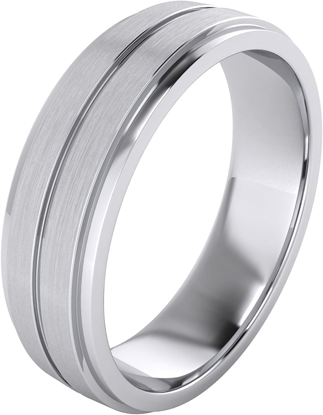 Heavy Solid Super Sale Special Price popular specialty store Sterling Silver 6mm Band Comfort Unisex Fit Wedding