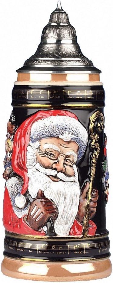 King Trust German Beer Stein Old Arlington Mall World mug liter Santa beer tankard 1