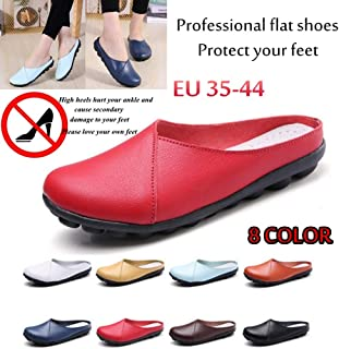 Cozy Nice Looking Ladies Shopping Flat Shoes That Can Protect The Feet Sandals Schuhe Damen Sandalias Femininas(Light Blue,42)