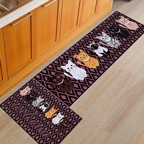 THEE Lustige Teppich Waschbare Vorleger rutschfeste Fußmatte Schmutzfangmatten Türmatte