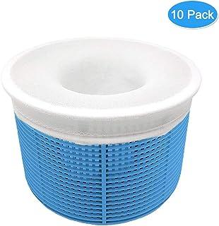 Aiglam 10 Piezas Calcetines de Piscina, Calcetines Protectores para Filtros de Piscina para Cesta de Filtro Skimmer, Forro de Malla de Malla Ultra Fina para Cesta de Piscina
