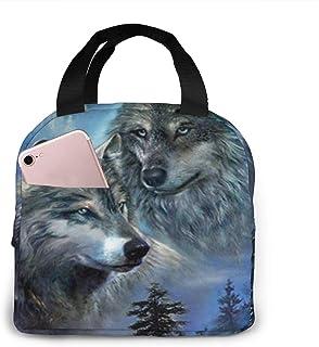 N\A Sacs à Lunch isolés imprimés Wolf Lookout pour Femmes, Sacs de Rangement pour Filles, Sacs de Rangement, boîte à Lunch...