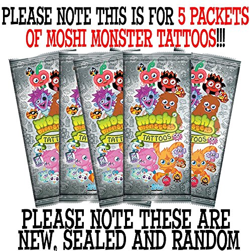 Moshi Monsters 2013 Tattoos (5 Packets)
