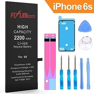 Batería para iPhone 6s 2200mAH Reemplazo de Alta Capacidad, FLYLINKTECH Batería con 28% más de Capacidad Que la batería Original y con Kits de Herramientas de reparación, Cinta Adhesiva