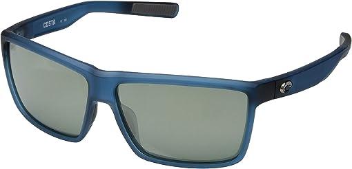 Gray Silver Mirror 580G/Matte Atlantic Blue Frame