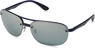 Men's RB4275CH Chromance Mirrored Square Sunglasses