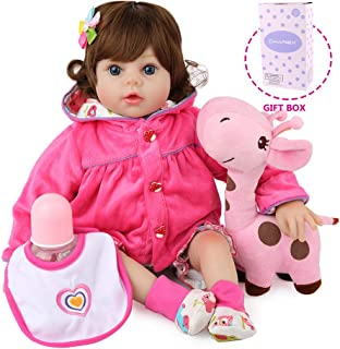 CHAREX Reborn Baby Dolls Girls, Lifelike Baby Dolls, Realistic Newborn Toddler Dolls Silicone Toys Gift for Ages 3+