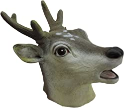Adult Latex Full Head Antlered Deer Mask Costume Accessory