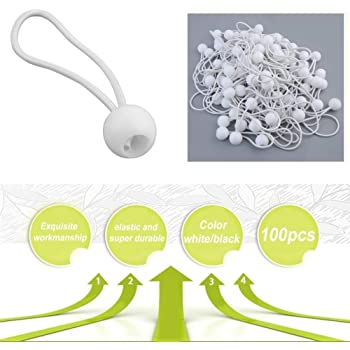 Jponline 100pcs Ball Bungee Bungie Cord 4mm Elastic String Lace