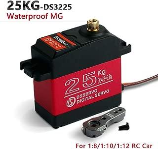 ZOSKAY Waterproof High Torque Metal Gear Standard Digital Servo 25KG/0.13S 6.8V for 1/8 1/10 RC Cars(Control Angle 180)