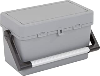 Wham Bam Upcycled Toolbox with Lid Grey 445740_Grey, Grey - 25.50H x 24W x 44D cm