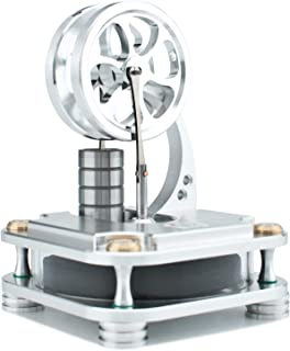 DjuiinoStar Stirling Engine, Solid Metal Construction (CNC Machined): an Interesting Working Model That Will Accompany with You for Years! Unique Gift for Engineers