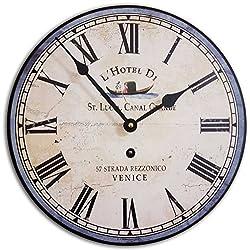 J. Thomas Italian Hotel Wall Clock 12 - Made in The USA!