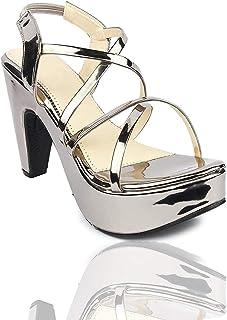 Digni Women's Strappy Open Toe Block Heel Sandal