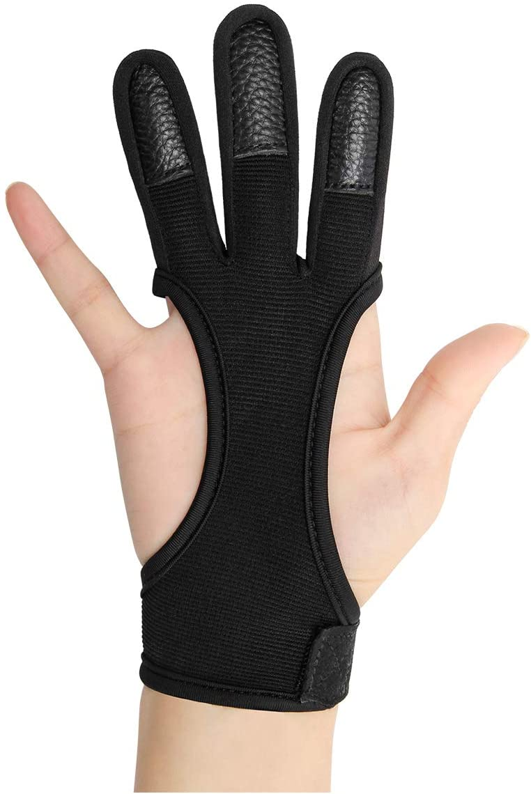 Coolrunner Archery NEW before selling Glove Three Finger Ranking TOP15 Leather Protective
