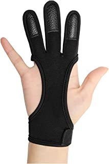 Archery Hunting Shooting Leather Thumb Finger Hand Protector Tab Guard Gear