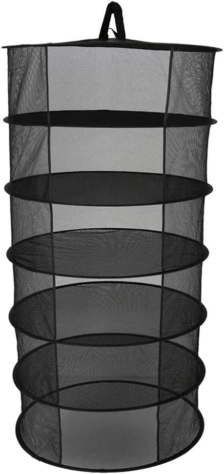 DOITOOL Herb Drying Rack Cheap mail order specialty store Net 6 Super Special SALE held Hangi Layer Dryer Black Mesh