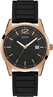 GUESS Mens Quartz Watch, Analog Display and Silicone Strap - W0991G7