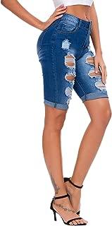 Women's Summer Ripped Hole High Waist Casual Short Jeans