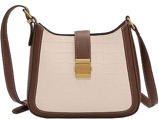 Wshizhdfuwstb Tote Bag for Women, Fashion Stone Pattern PU Leather Lady Messenger Bag Tumid Capacity Simple Lady Messenger...